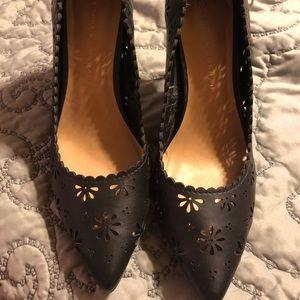 NWOT Lauren Conrad black high heels size 10